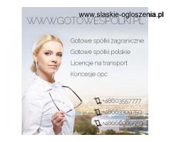 GOTOWE LICENCJE NA SPEDYCJE, TRANSPORT MIĘDZYNARODOWY, KONCESJA NA HANDEL PALIWAMI OPC 603557777