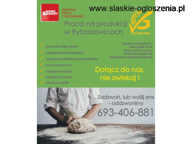 Produkcja pieczywa w Rybarzowicach - praca od zaraz