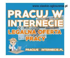 Praca przez internet LEGALNA, bez wkładu finansowego